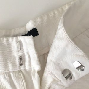 French Connection Shorts - FRENCH CONNECTION White Summer Cotton Shorts